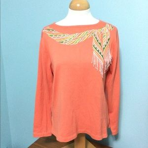 Bob Mackie Wearable Art Med Orange Sweater Scarf